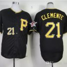 Pittsburgh Pirates 21 Roberto Clemente 2015 Baseball Black Rugby Jerseys Authentic Stitched  Style 1