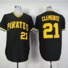 Pittsburgh Pirates 21 Roberto Clemente 2015 Baseball Black Rugby Jerseys Authentic Stitched  Style 2