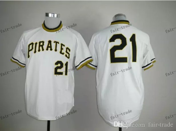 Pittsburgh Pirates 21 Roberto Clemente 2015 Baseball White Rugby Jerseys Authentic Stitched  Style 1