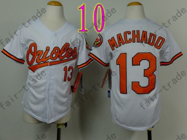 Baltimore Orioles Youth Jersey 13 Manny Machado Kid White