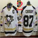 Stitched Pittsburgh Penguins #87 Sidney Crosby White Hockey Jerseys Ice Jersey Style 2