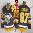 Stitched Pittsburgh Penguins #87 Sidney Crosby Black Hockey Jerseys Ice Jersey Style 4