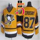 Stitched Pittsburgh Penguins #87 Sidney Crosby Orange Hockey Jerseys Ice Jersey Style 4