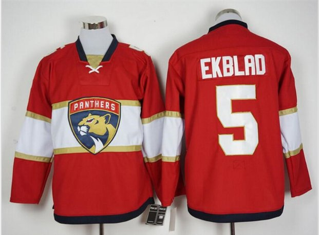 2016 Florida Panthers Ice Hockey Jerseys 5 Aaron Ekblad Red Best Quality