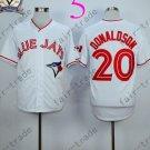 Toronto Blue Jays #20 Josh Donaldson White 40th Anniversary Patch Stitched Jersey Style 2