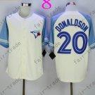 Toronto Blue Jays #20 Josh Donaldson White 40th Anniversary Patch Stitched Jersey Style 1