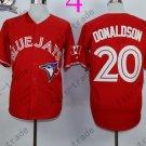 Toronto Blue Jays #20 Josh Donaldson Red 40th Anniversary Patch Stitched Jersey