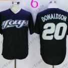 Toronto Blue Jays #20 Josh Donaldson Black 40th Anniversary Patch Stitched Jersey