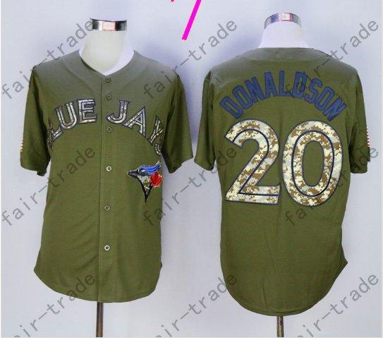 Toronto Blue Jays #20 Josh Donaldson 40th Anniversary Patch Stitched Jersey