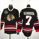 #7 brent seabrook Blackhawks jersey Black Ice Hockey Jerseys 2015 Final Stanley Cup Patch