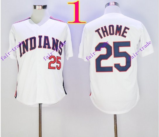 cleveland indians #25 jim thome 2016 Baseball Jersey Authentic Stitched