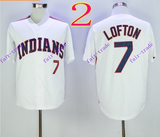 cleveland indians #7 kenny lofton 2016 Baseball Jersey Authentic Stitched