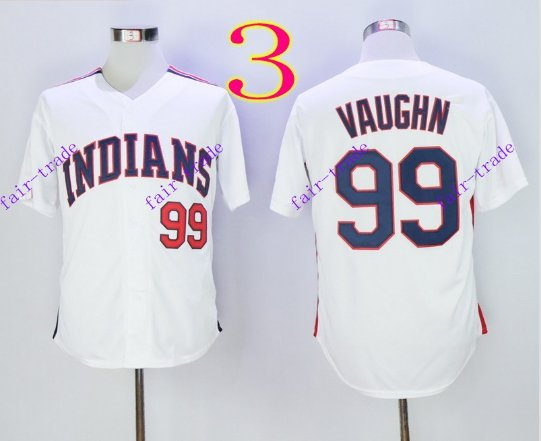 cleveland indians #99 ricky vaughn 2016 Baseball Jersey Authentic Stitched