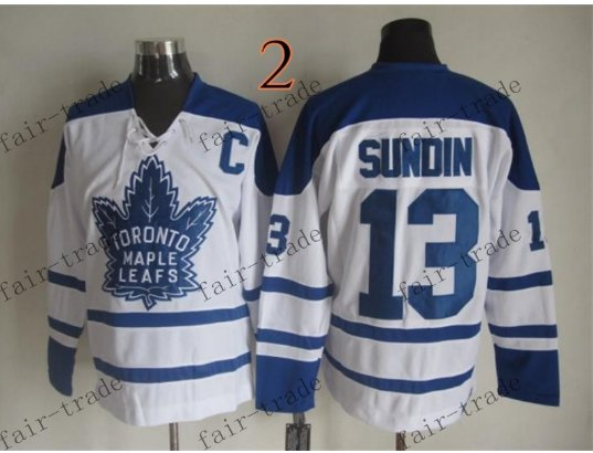 Toronto #13 Mats Sundin Throwback Vintage Jersey ICE Hockey Jerseys Heritage Stitched Style 1