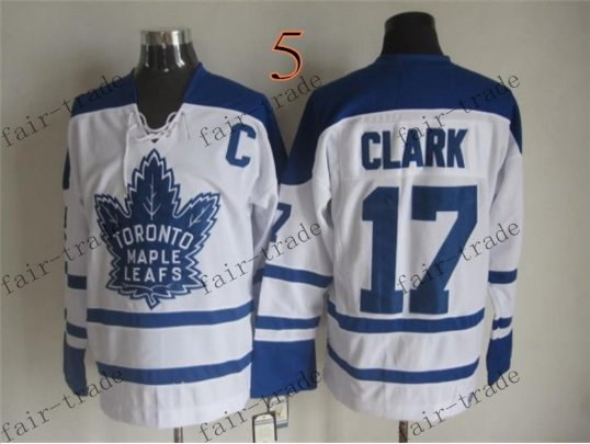 Toronto #17 Wendel Clark Throwback Vintage Jersey ICE Hockey Jerseys Heritage Stitched Style 1