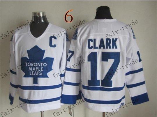 Toronto #17 Wendel Clark Throwback Vintage Jersey ICE Hockey Jerseys Heritage Stitched Style 2