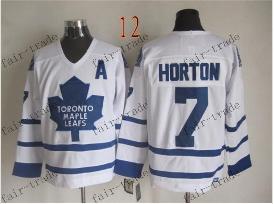 Toronto #7 Tim Horton Throwback Vintage Jersey ICE Hockey Jerseys Heritage Stitched Style 2