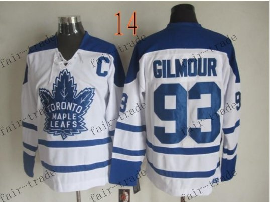 Toronto #93 Doug Gilmour Throwback Vintage Jersey ICE Hockey Jerseys Heritage Stitched Style 1