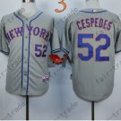Yoenis Cespedes Jersey 2015 World Series Patch New York Mets Jersey Home Away Gray