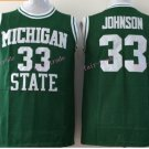 Johnson College Jersey Michigan State Spartans 33# Green Stitched