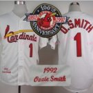Ozzie Smith Jersey 1992 Retro Baby White 75th Patch Jerseys Style 2
