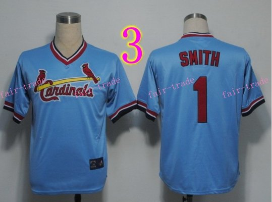 Ozzie Smith Jersey 1992 Retro Baby Blue 75th Patch Jerseys Style 2