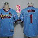Ozzie Smith Jersey 1992 Retro Baby Blue 75th Patch Jerseys Style 2