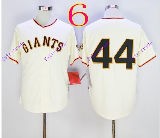 san francisco giants #44 willie mccovey 2016 Baseball Jersey  Authentic Stitched White Style 2
