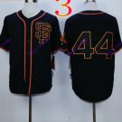 san francisco giants #44 willie mccovey 2016 Baseball Jersey  Authentic Stitched Black Style 2