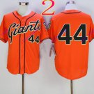 san francisco giants #44 willie mccovey 2016 Baseball Jersey  Authentic Stitched Orange