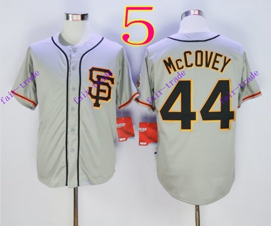san francisco giants #44 willie mccovey 2016 Baseball Jersey  Authentic Stitched Gray