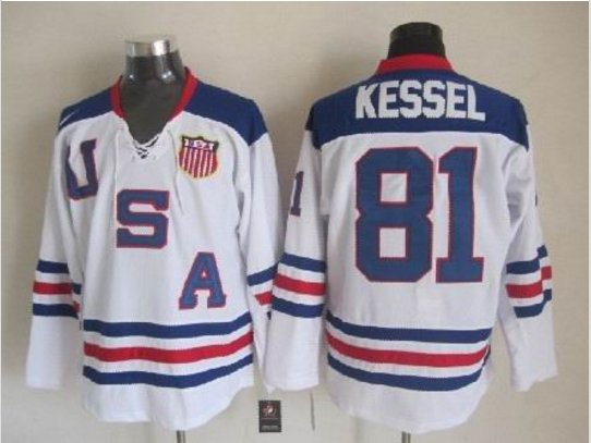 2010 Team USA Hockey Jersey Ice OLYMPIC Blue 81 Phil Kessel