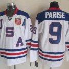 2010 Team USA Hockey Jersey Ice OLYMPIC Blue 9 Zach Parise