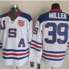 2010 Team USA Hockey Jersey Ice OLYMPIC Blue 39 Miller