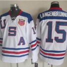 2010 Team USA Hockey Jersey Ice OLYMPIC Blue  15 Langenbrunner