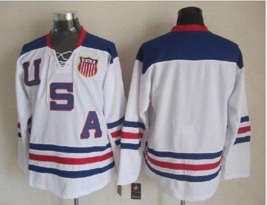 2010 Team USA Hockey Jersey Ice OLYMPIC Blue