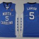 2017 North Carolina Tar Heels College 5 Lawson Jersey Blue