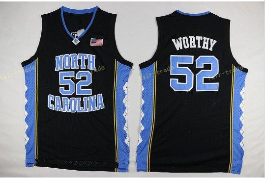 2017 North Carolina Tar Heels College 52 James Worthy Jersey Black