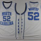 2017 North Carolina Tar Heels College 52 James Worthy White Jersey