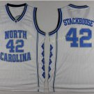 2017 North Carolina Tar Heels College 42 Jerry Stackhouse White Jersey