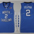 2017 North Carolina Tar Heels College #2 Jalek Felton Blue Jersey