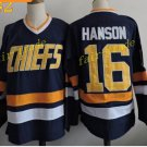 CHARLESTOWN CHIEFS #16 Jack HANSON 2016 Hockey Jerseys Ice Winter Jersey All Stitched