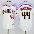 Vintage 44 Paul Goldschmidt Jersey White Arizona Diamondbacks Baseball Goldschmidt Style 1