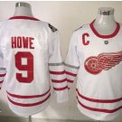 017 Centennial Classic Hockey Jerseys Detroit Red Wings #9 Gordie Howe White