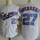 Montreal Expos #27 Vladimir Guerrero White Throwback Retro 100% Stitched Baseball Jerseys