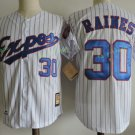 Montreal Expos #30 Tim Raine White Throwback Retro 100% Stitched Baseball Jerseys