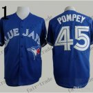 Toronto Blue Jays #45 Dalton Pompey 2015 Baseball Jersey Blue Jerseys Authentic Stitched