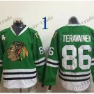 #86 Teuvo Teravainen Throwback Vintage Jersey Green ICE Hockey Jerseys Heritage Stitched