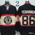 #86 Teuvo Teravainen Throwback Vintage Jersey Black ICE Hockey Jerseys Heritage Stitched