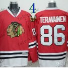 #86 Teuvo Teravainen Throwback Vintage Jersey Red ICE Hockey Jerseys Heritage Stitched